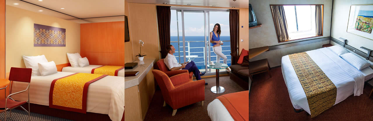 2 night cruises cabins and suites