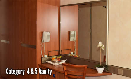 2 night Grand Bahama Island cruise category 4 and 5 Vanity area