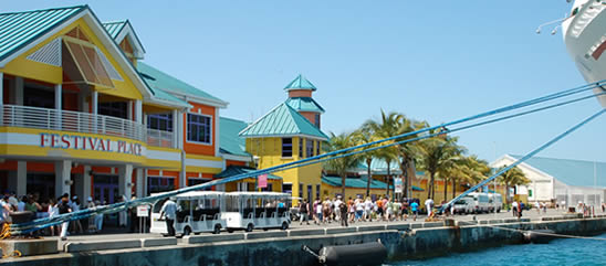Cruise dock at Nassau, Bahamas